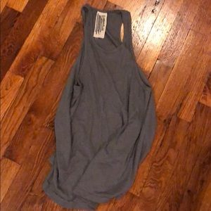 Free people gray ribbed tank, size small